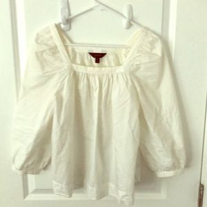 J-crew white peasant top- 4